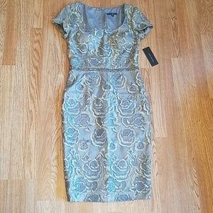 NWT David Meister Embroidered Flower Dress